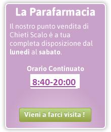 Parafarmacia PharmaVillage Chieti Scalo Orari Apertura