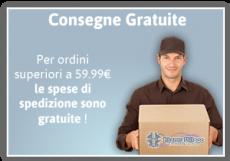Spedizioni gratuite per ordini superiori a 50 €